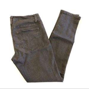 Forever 21 Gray Washed Skinny Jeans